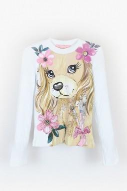 Blusa Pituchinhus Cachorro Flores 21169