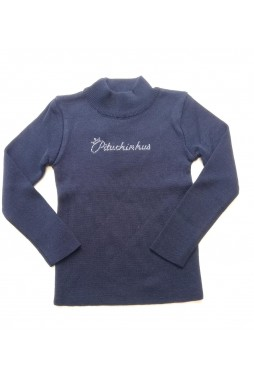 Blusa Pituchinhus Tricot Marinho 21110