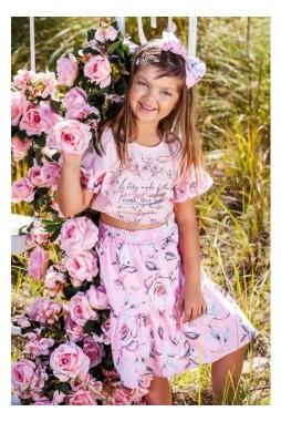 Saia Short Pituchinhus Tricoline Floral Rosas 23059