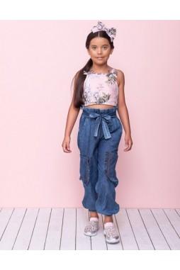 Calça Pituchinhus Clochard Jeans Fino 21526