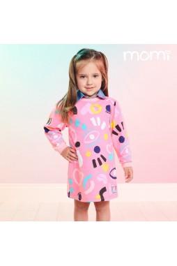 Vestido Momi Rosa Estampado J3455